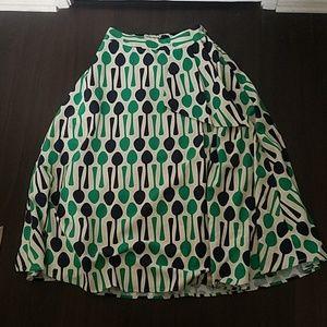 Eva Franco tea skirt spoon pattern
